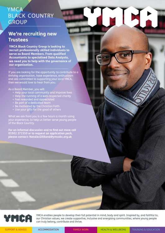 YMCA trustee recruitment (October 2018)